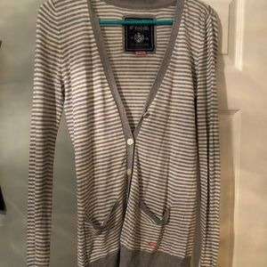 Victoria's Secret PINK striped sweater cardigan